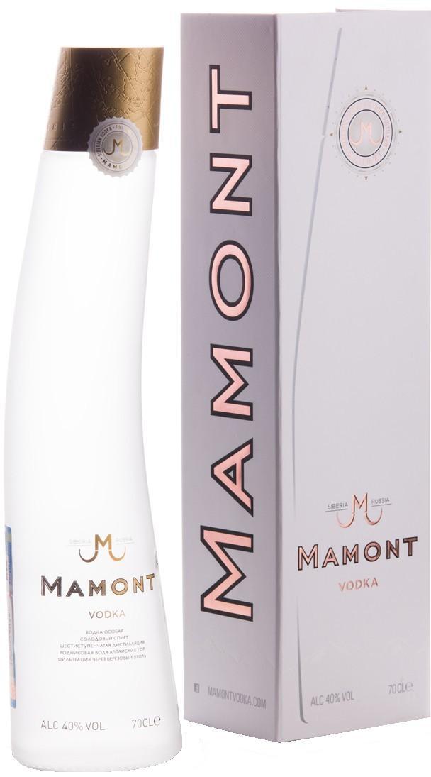 Водка Мамонт в подарочной упаковке 0,7л