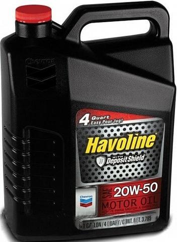 HAVOLINE 20W-50 моторное масло для бензиновых двигателей Chevron (5 литров)