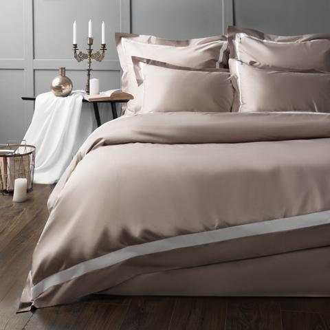 Комплект постельного белья сатин Ластинг серый
