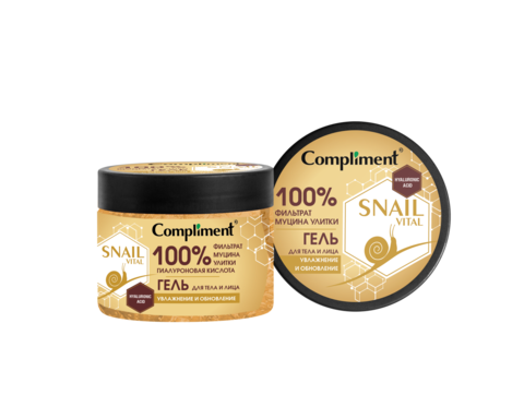 Compliment SNAIL VITAL Гель для тела и лица Увлажнение и обновление