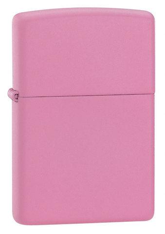 Зажигалка Zippo Pink Matte с покрытием Pink Matte, латунь/сталь, розовая, матовая, 36x12x56 мм
