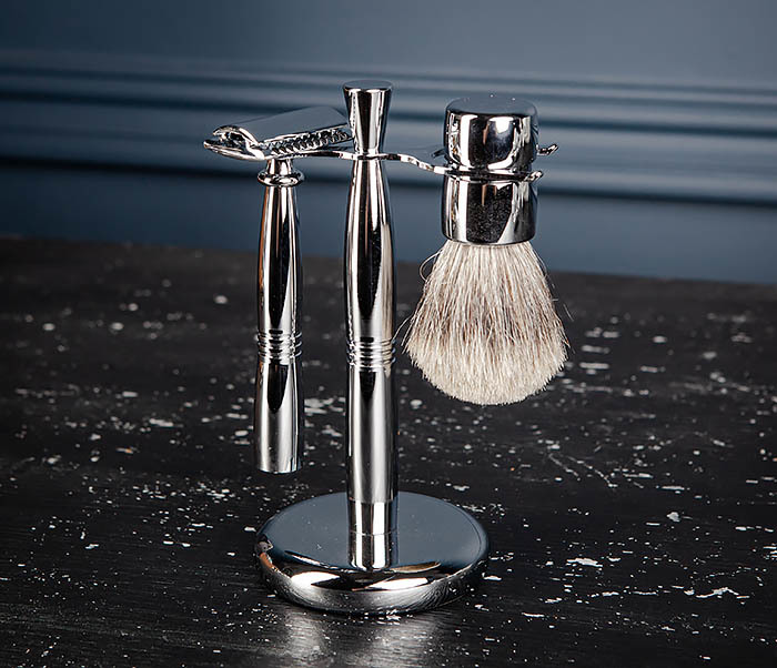 RAZ484 Подарочный набор для бритья: подставка, станок и помазок фото 04