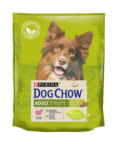 Purina Dog Chow сухой корм для взрослых собак (ягненок) 2,5 кг