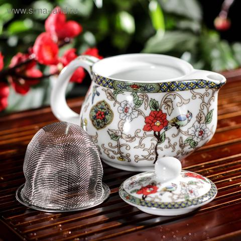 Набор для чайной церемонии Цветение, 5 предметов: чайник 200 мл, 4 чашки 30 мл