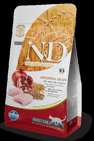 Сухой низкозерновой корм Farmina N&D Low Grain Cat Chicken&Pomegranate Adult