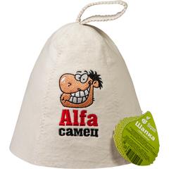 Шапка «Alfa самец», войлок 100%
