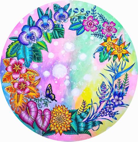 Печать на вафельной бумаге, Цветы 5