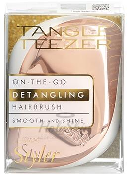 Tangle Teezer Compact Styler Rose Gold Luxe расческа для волос