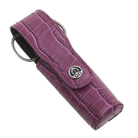 Маникюрный набор GD, 3 предмета, цвет розовый, кожаный футляр