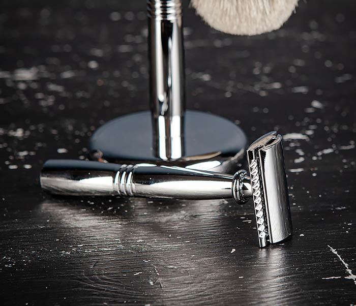 RAZ484 Подарочный набор для бритья: подставка, станок и помазок фото 06