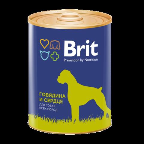 Brit Premium Beef & Heart Консервы для собак Говядина и Сердце