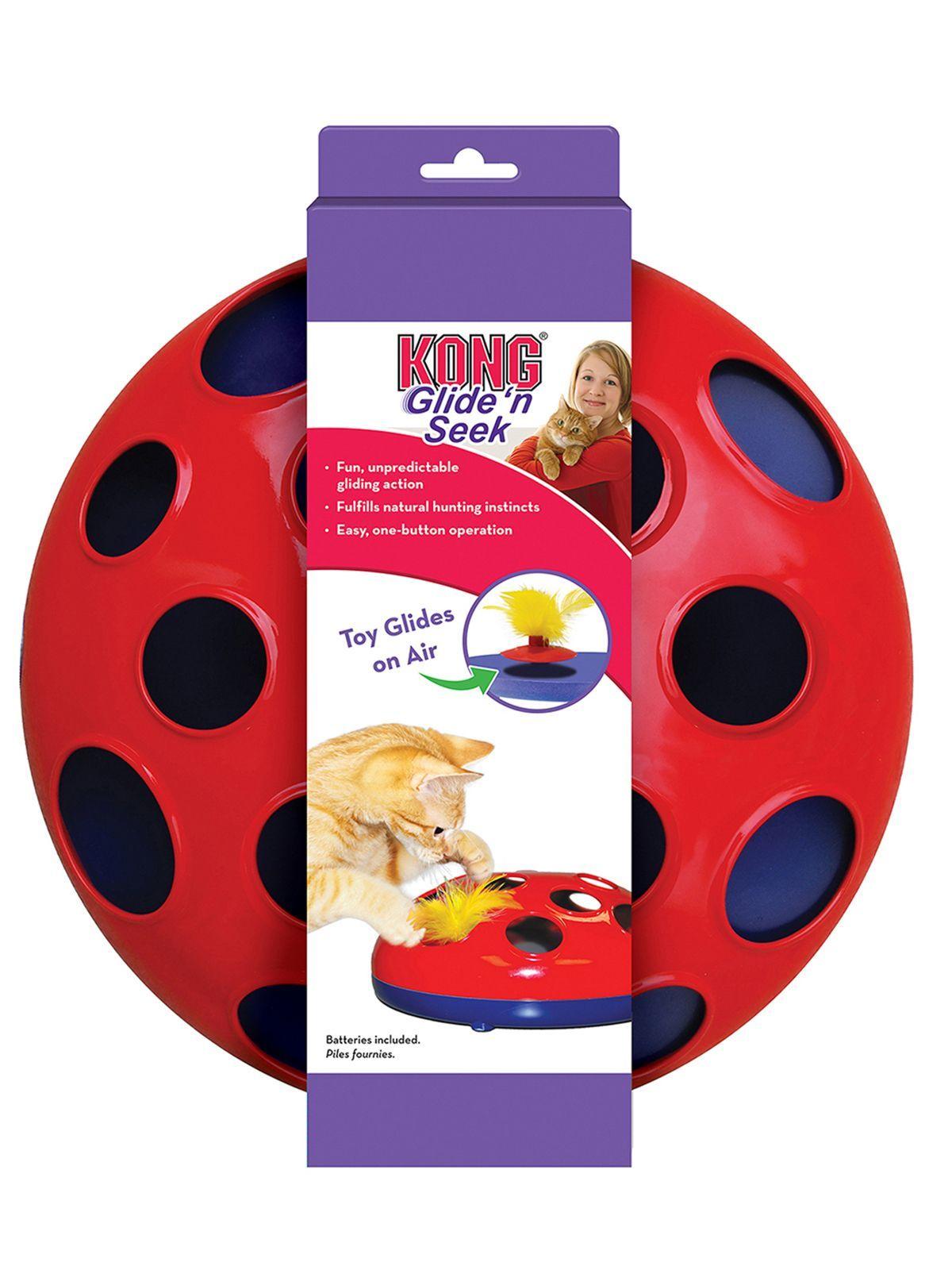 Игрушки Игрушка трек для кошек KONG Glide'n'Seek трек на батарейках диаметр 24 см CA48_1.jpeg