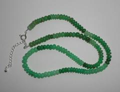 Ожерелье из хризопраза, 46,5 см
