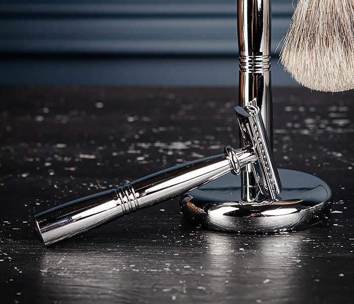 RAZ484 Подарочный набор для бритья: подставка, станок и помазок фото 07