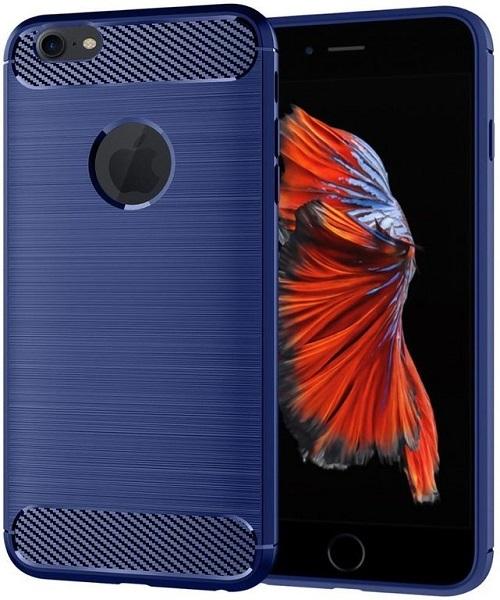 Чехол для iPhone 6 Plus (iPhone 6S Plus) цвет Blue (синий), серия Carbon от Caseport