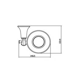 Держатель мыльницы KAISER Bronze II KH-4003 схема