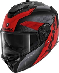 Мотошлем Shark Spartan GT Elgen, серый/красный матовый