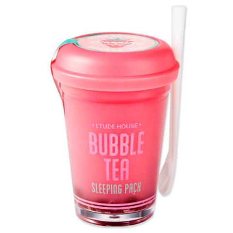 Etude House Ночная маска для лица клубничная Bubble Tea Sleeping Pack Strawberry 100 гр.