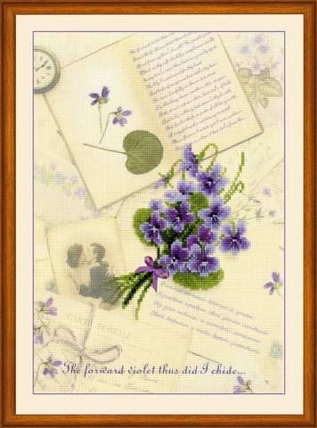 Набор для вышивания крестом «Письма о любви. Фиалки» (0039 РТ)
