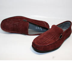 Мокасины мужские модные IKOC 1555-3 Red.