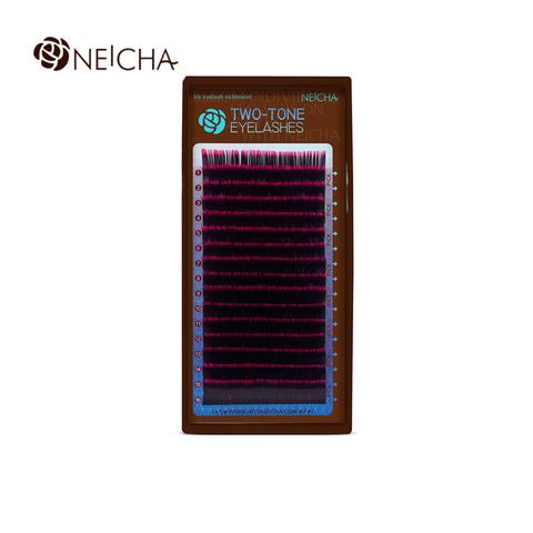 Ресницы NEICHA нейша MIX 16 линий двухцветные черно-красный