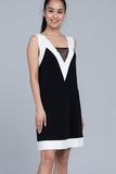 Модное черно-белое платье Twin-Set