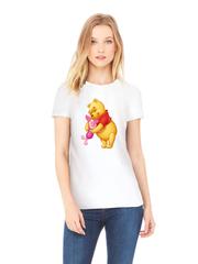 Футболка с принтом мультфильма Винни-Пух, Пятачок (Winnie the Pooh) белая w0015