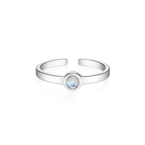 Миди-кольцо BETA c лунным камнем