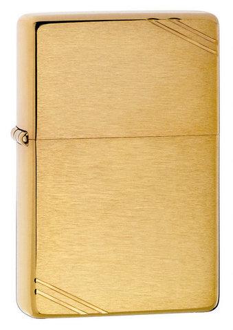 Зажигалка Zippo с покрытием Brushed Brass, латунь/сталь, золотистая, матовая, 36x12x56 мм