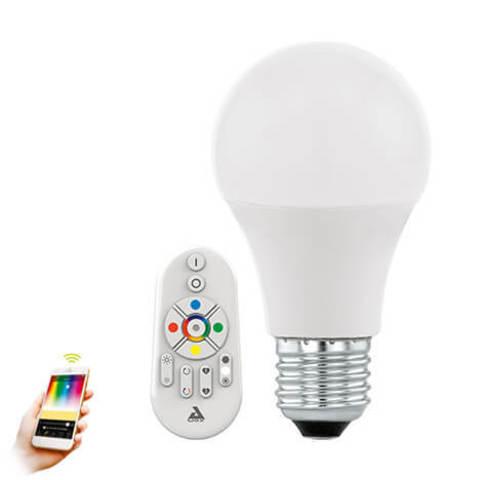 Лампа RGB LED диммируемая с пультом ДУ Умный свет Eglo EGLO CONNECT LM-LED-E27 9W 806Lm 2700-6500K A60 11585