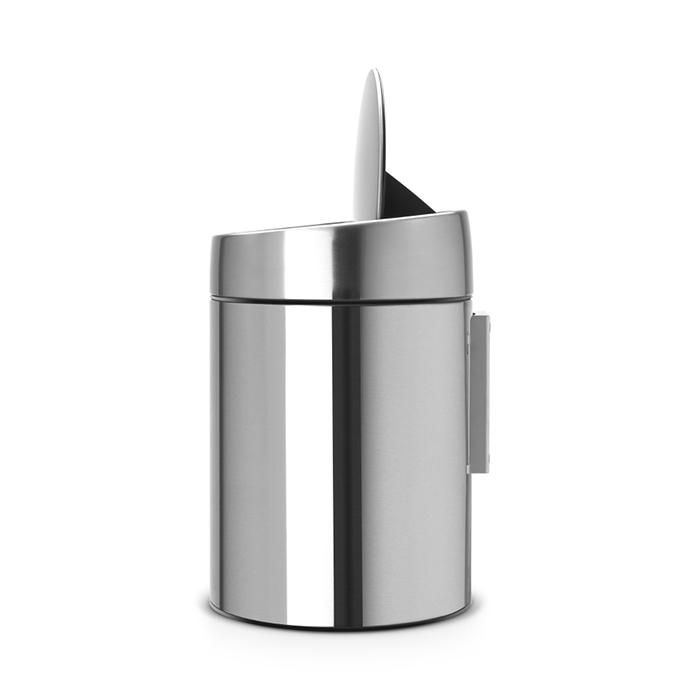 Мусорный бак Slide Bin (5 л), Стальной матовый (FPP), арт. 477546 - фото 1