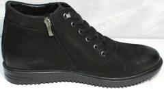Красивые ботинки зимние мужские Luciano Bellini 71783 Black.