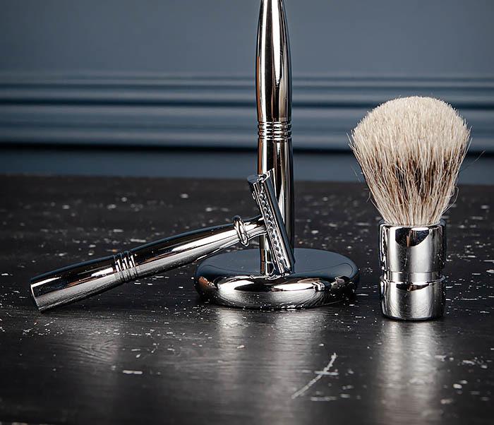 RAZ484 Подарочный набор для бритья: подставка, станок и помазок фото 08