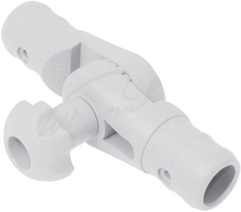 Наклонно-соединительный узел Tt223 для труб Ø 22, 29 мм, белый