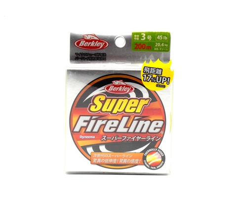 Плетеная леска Berkley Super Fireline Ярко-зеленая 200 м. 3 РЕ 20,4 кг. Chartreuse (Японский рынок) (1324482)