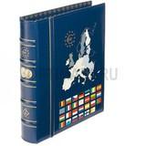 Альбом VISTA Classic, с шубером, без листов, тематическая обложка ЕВРО, синий