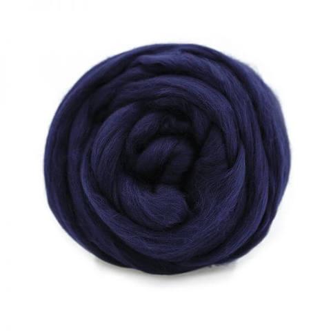 Шерсть для валяния Полутонкая (Троицкая) 107 темно-синий
