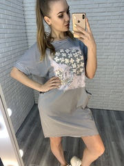платье в полосочку летнее nadya