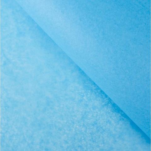 Бумага упаковочная тишью, голубой, 50 х 66 см