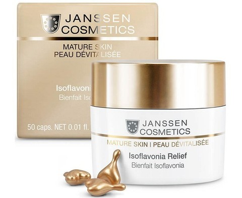 JANSSEN COSMETICS Капсулы с фитоэстрогенами и гиалуроновой кислотой | Isoflavonia Relief 50 капсул