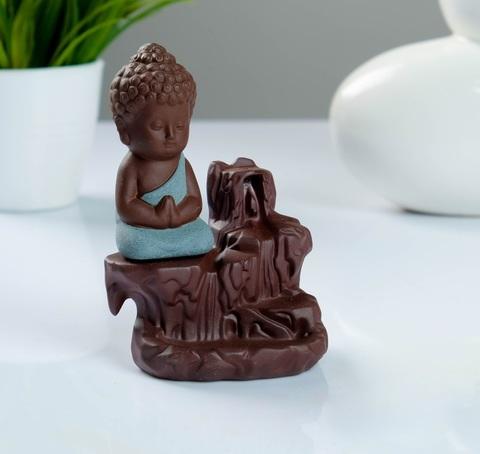Благовоние стелющийся дым Будда + аромат розы, 7*9*12 см