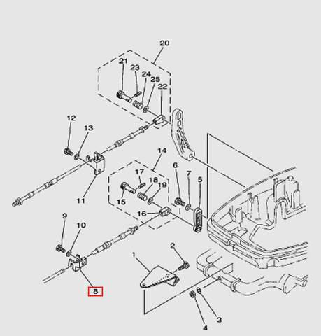 Кронштейн крепления троса ДУ2 Т30EР (13-8W)
