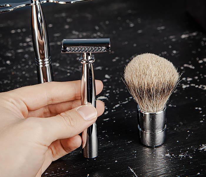 RAZ484 Подарочный набор для бритья: подставка, станок и помазок фото 10