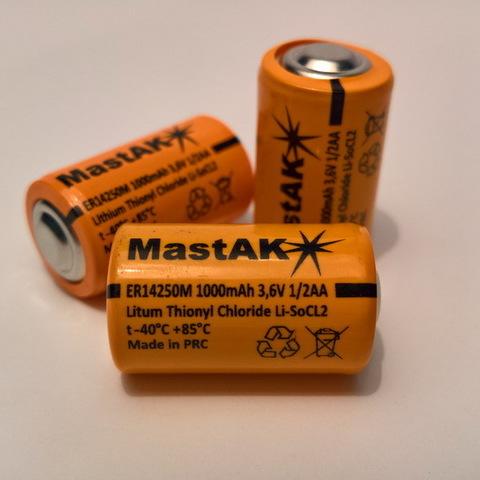 Батарейки MastAK 1/2AA ER14250M, 1A, 3.6V (Li-ion)