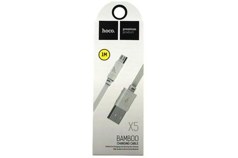 Hoco / Кабель X5 microUSB - USB белый | 1м