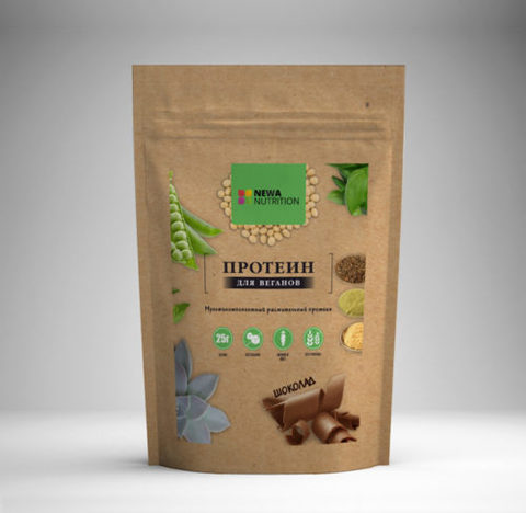 Растительный Протеин Шоколад б/сах, б/глют 700гр NEWA NUTRITION