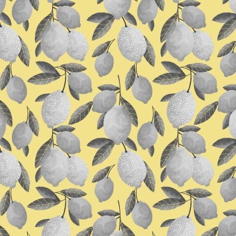 серые лимоны  на желтом фоне