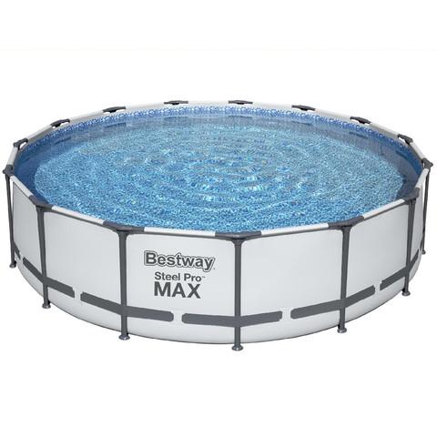 Каркасный бассейн Bestway 56488 (457х107 см) с картриджным фильтром, тентом и лестницей / 18485