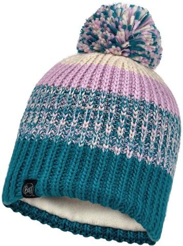 Шапка вязаная с флисом детская Buff Hat Knitted Polar Sibylla Aqua фото 1