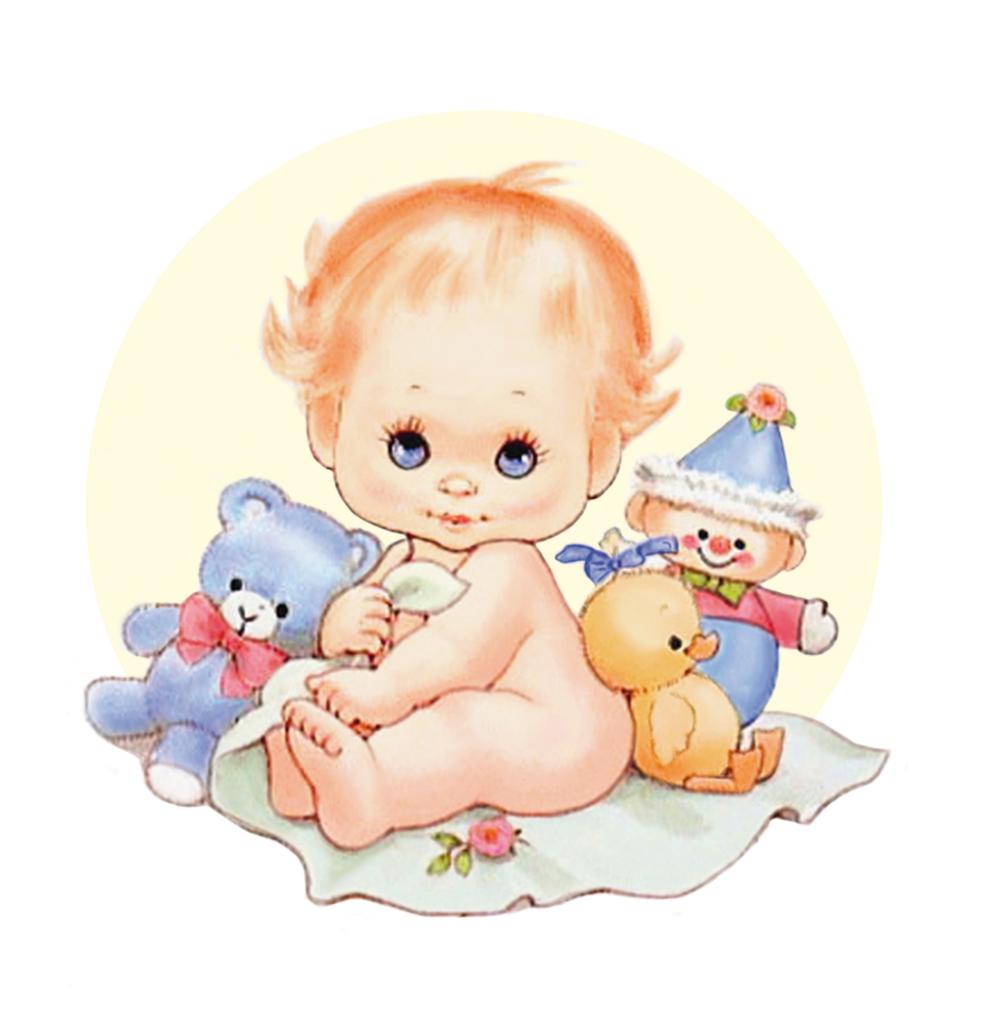 Папертоль Малыш с игрушками — главное фото сюдета.